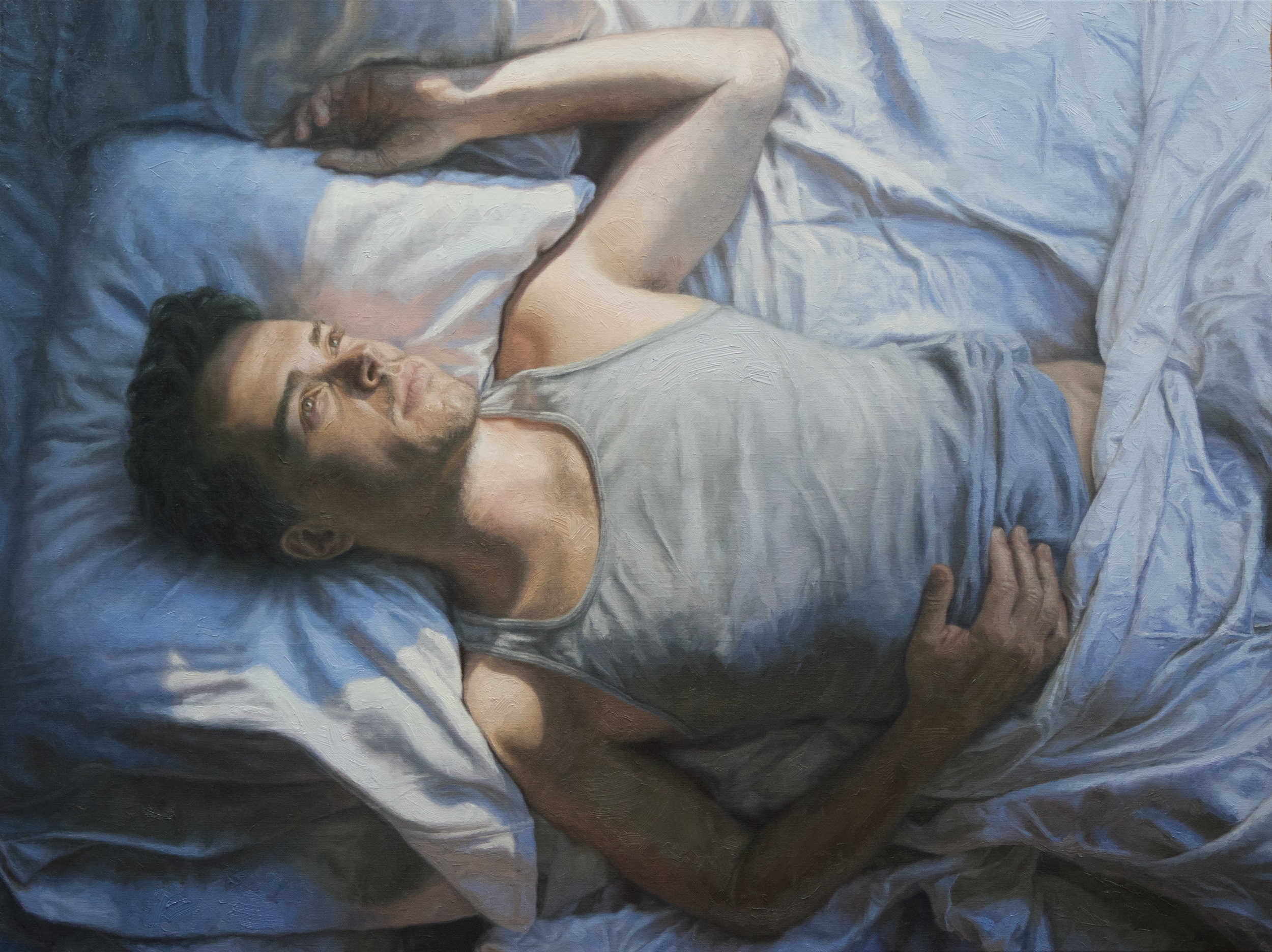 Husband / Oil on Stretched Linen / 40 x 30 In