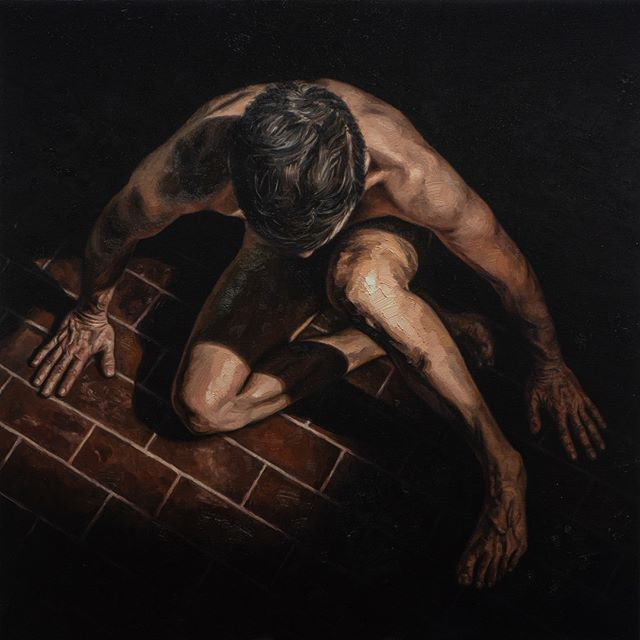 Left Unsaid / Oil on Stretched Linen /  32 x 32 Inches #painting #malenude #gayart #gayartist
