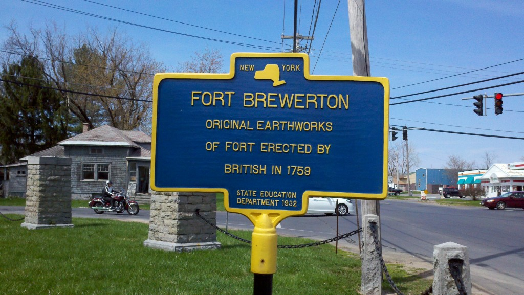 Fort Brewerton historic marker.  Photo credit: Kerry Nelson