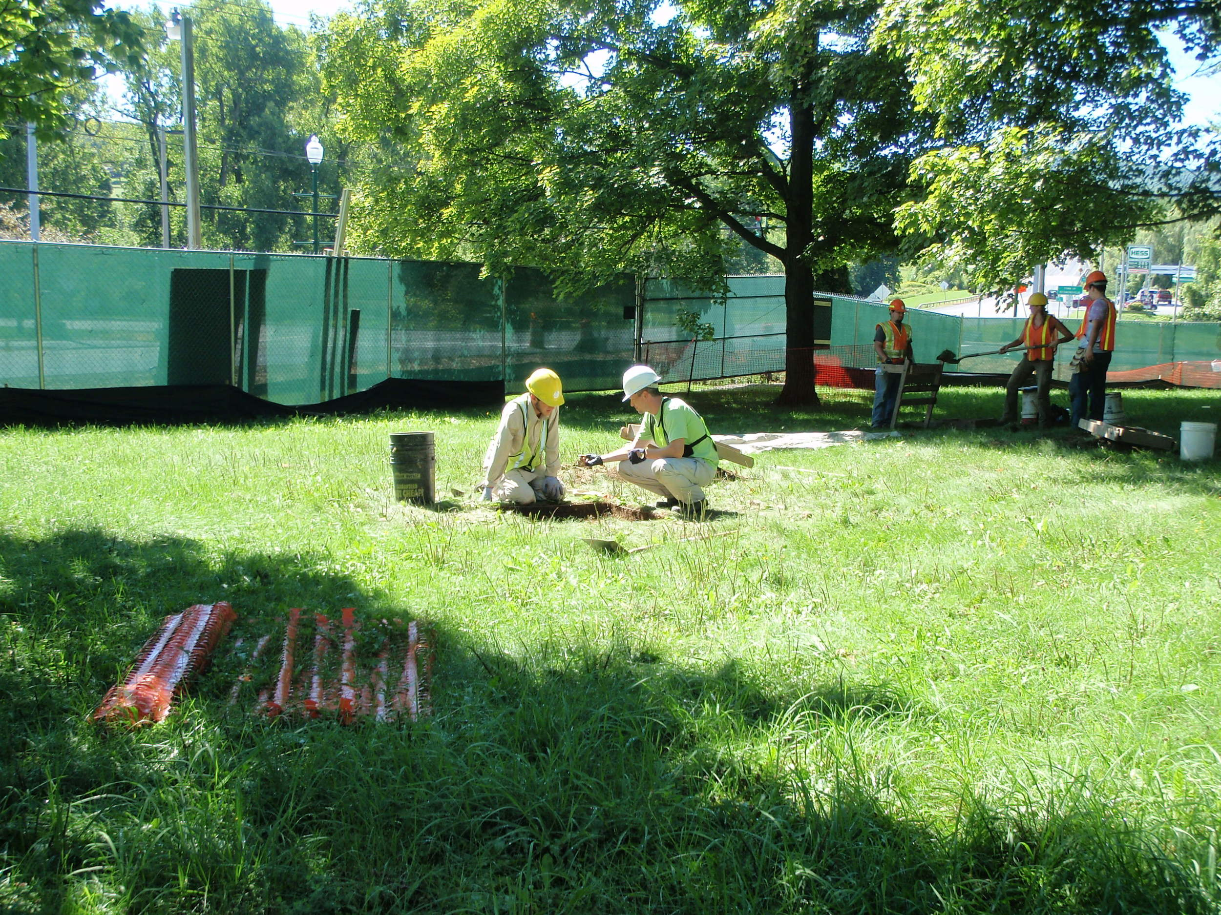 Excavation in the Cobleskill, Schoharie County