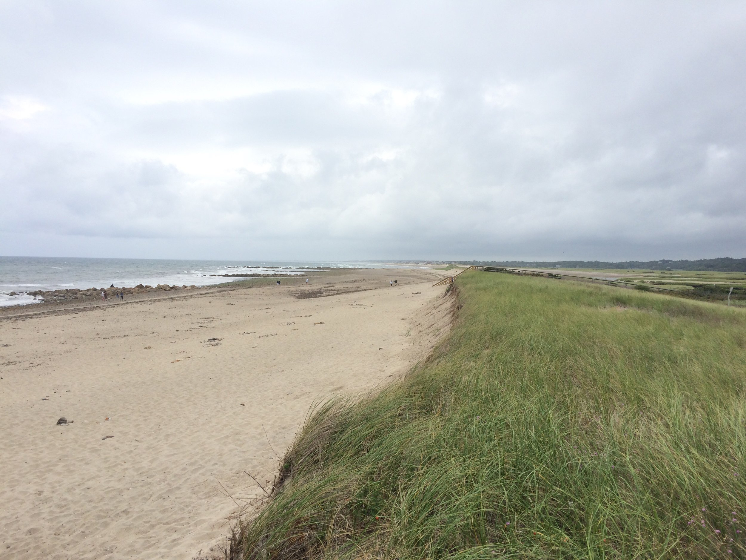 Sea meets land at Cape Cod near Sandwich, Massachusetts.