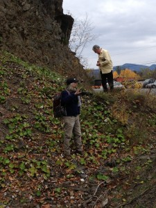 At the Esopus exposures near Catskill, Chuck Ver Straeten (left), and Nate Hamilton
