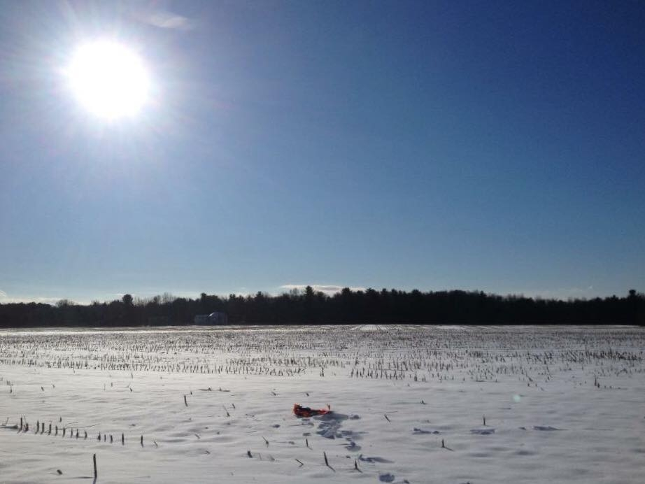 Snowy fields won't stop a Phase 1 archaeological survey in Saratoga Springs.
