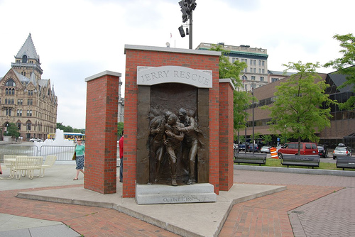 The Jerry Rescue monument, Clinton Square, Syracuse, New York