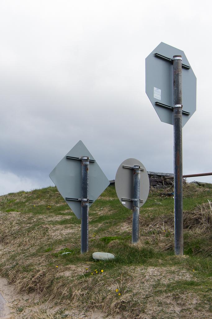 Three Sign Posts
