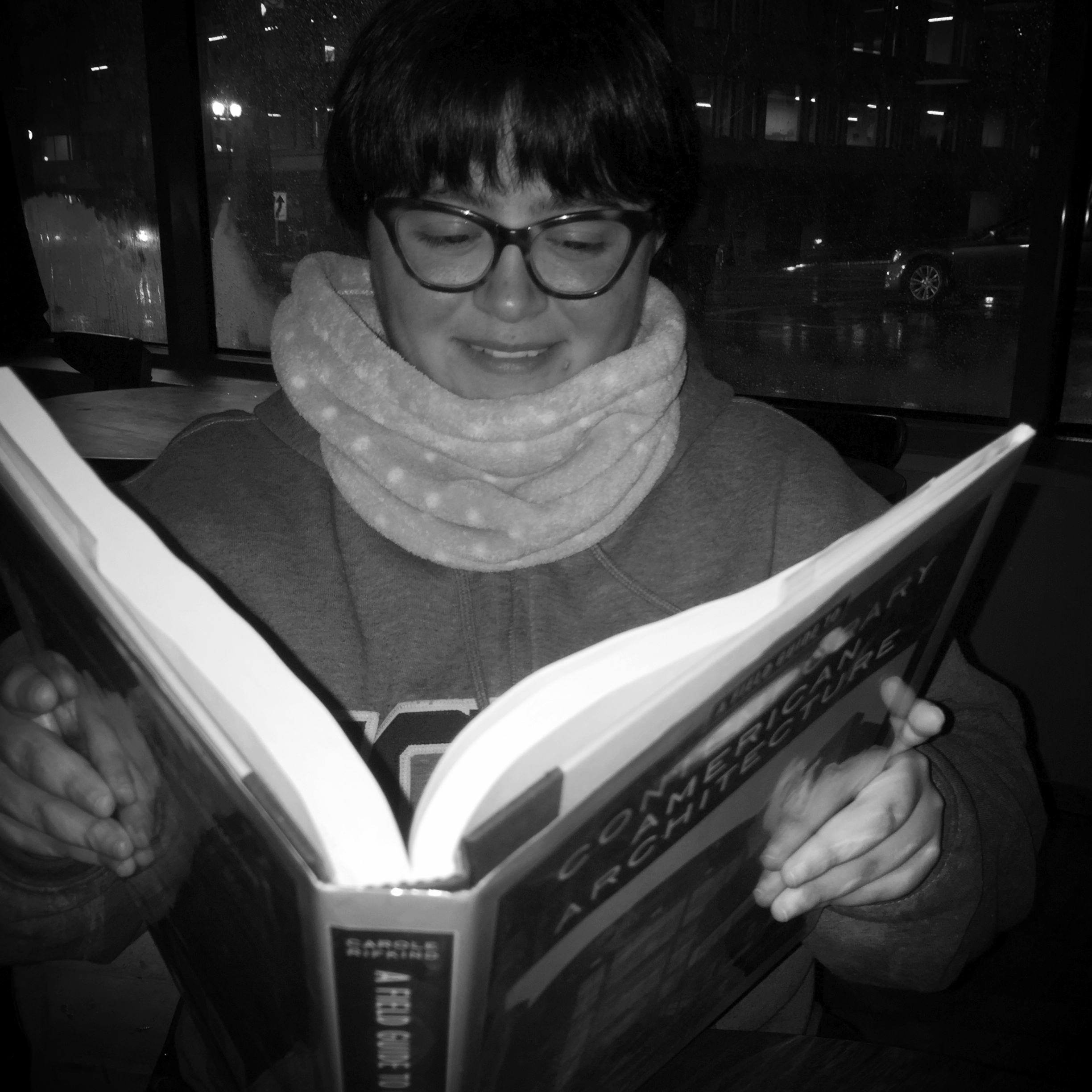 Teri and her Contemporary Architecture Bible