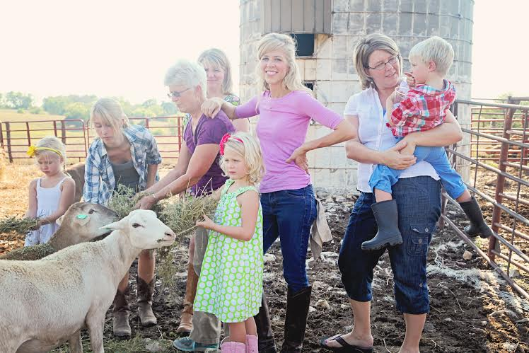 Farmer Girl and Tallgrass Network team members (from left to right): Camille, Chloe, Roxanne (wearing purple), Jo (behind), Anna, Leslie, Julie, Gus.