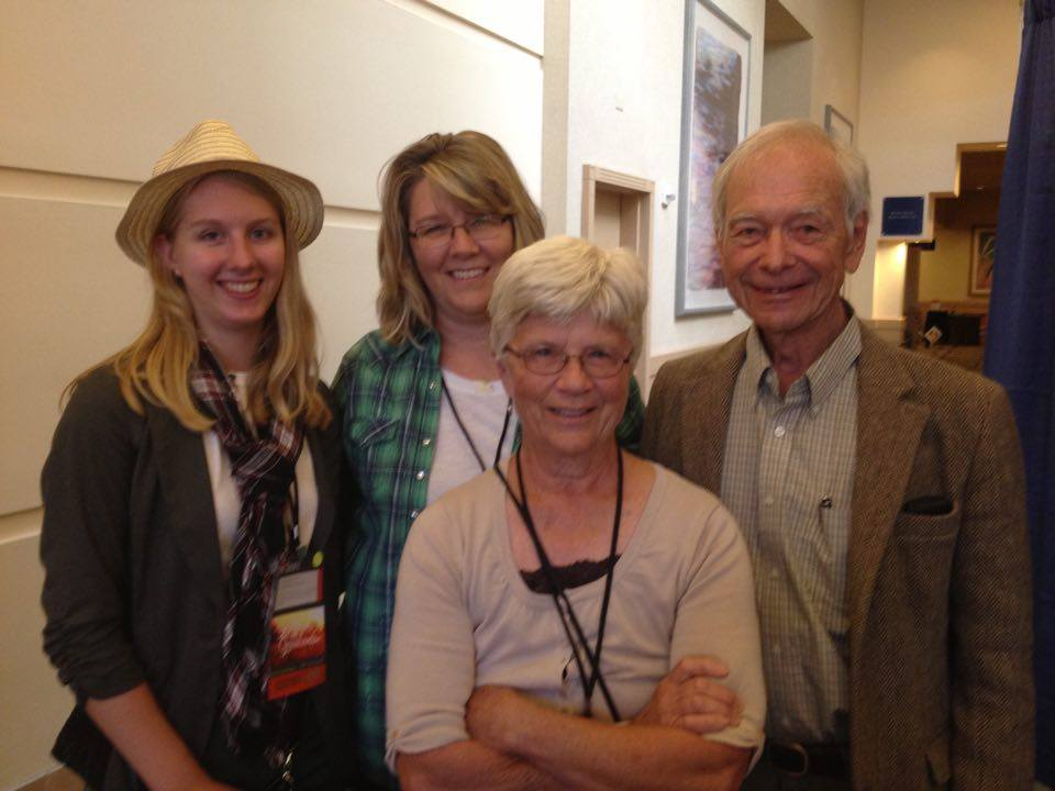 From left: Me, my mother Julie, my grandmother Roxie, and Allan Savory at the Savory Institute Artisans of the Grasslands conference, 2015 in San Francisco