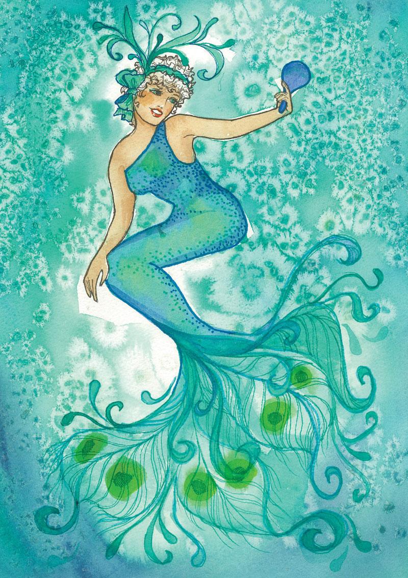 ME73 Feathered Mermaid
