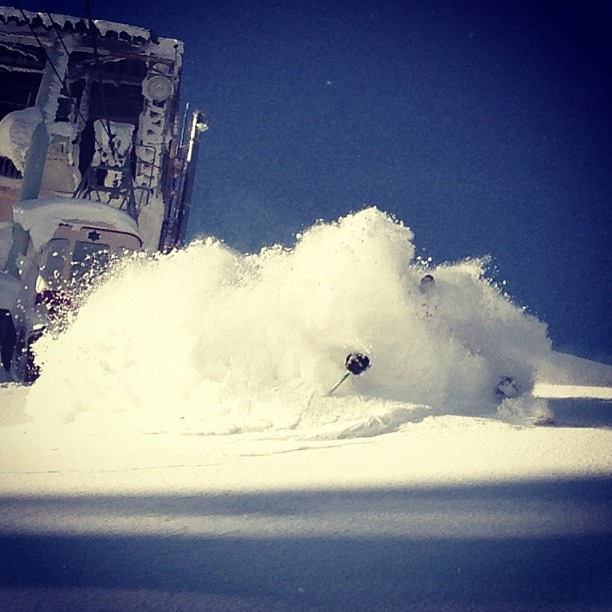 Buried by powder skiing Japan - no better feeling!