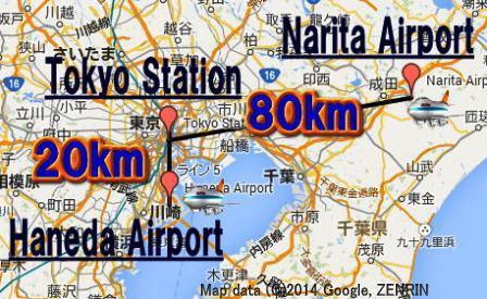 Tokyo's main airports