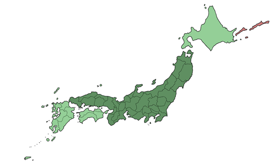 Japan Skiing Prefectures