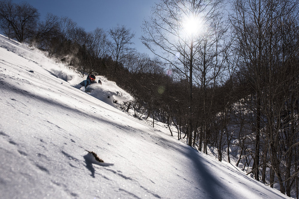 March skiing conditions in Japan