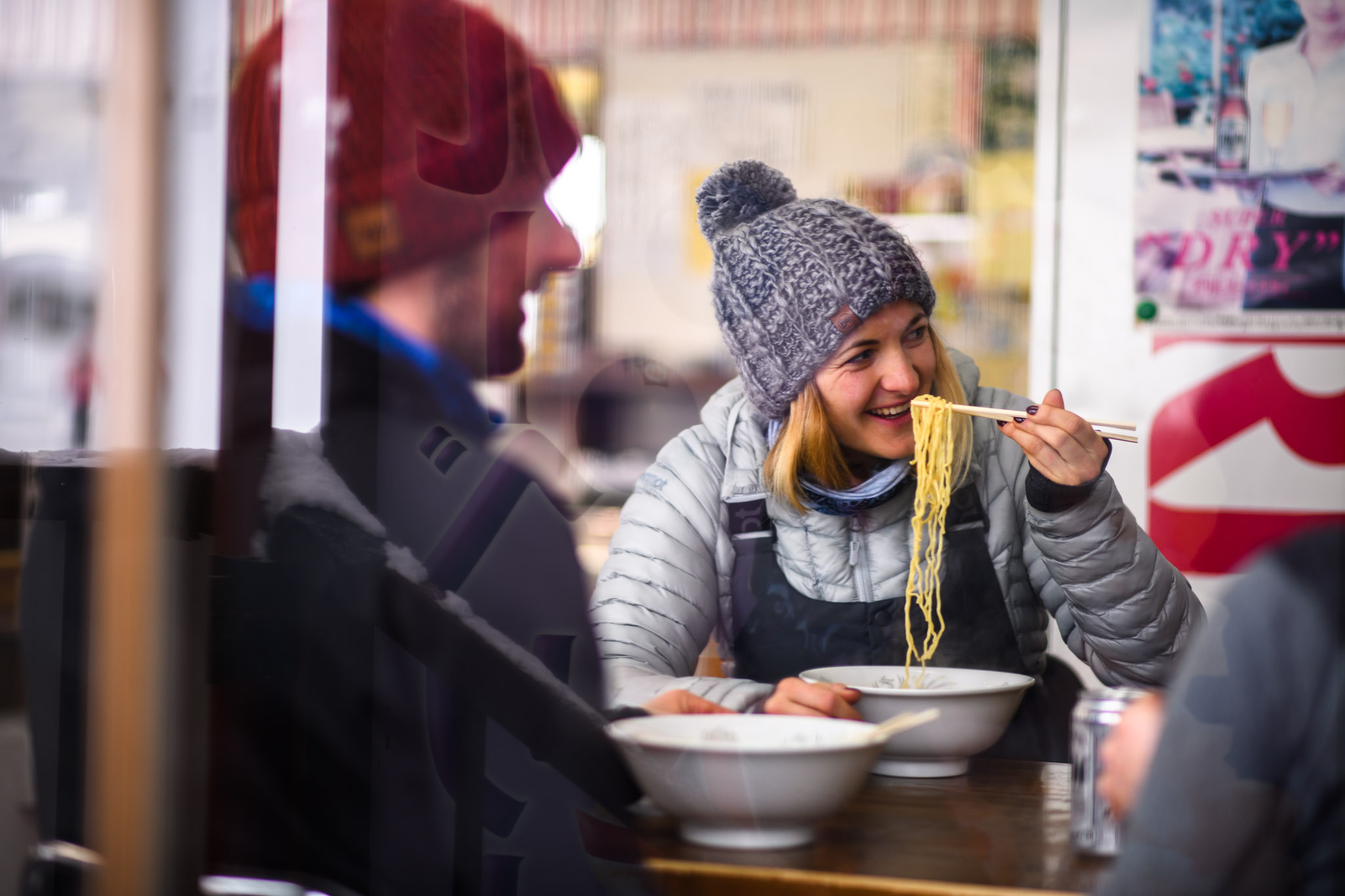 eat local ramen after skiing with the ski and yoga retreat 2019