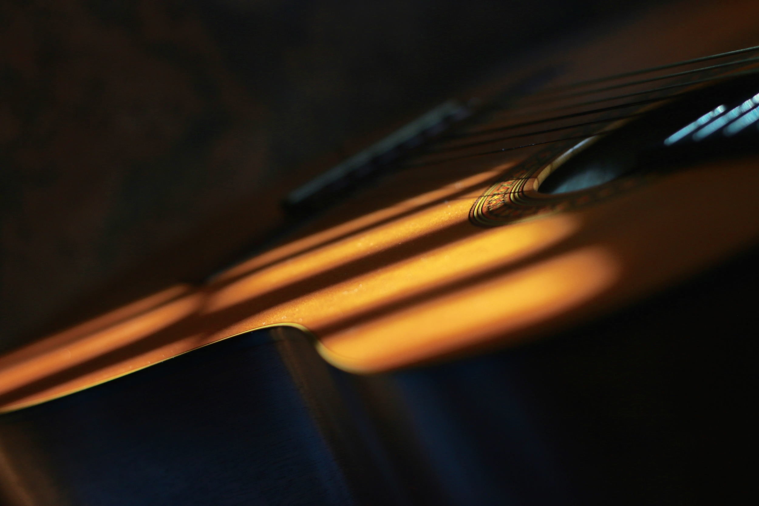 Dylan's guitar in the afternoon light.