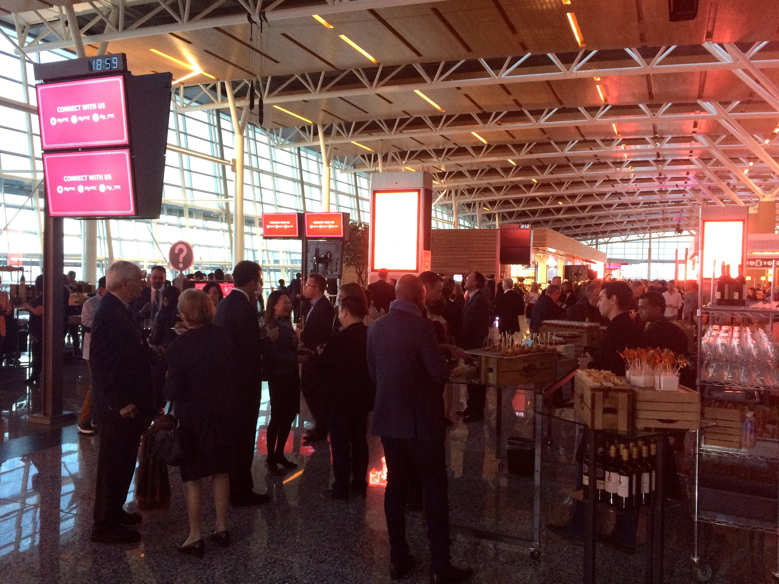 People partaking in the New YYC International Terminal Grand Opening