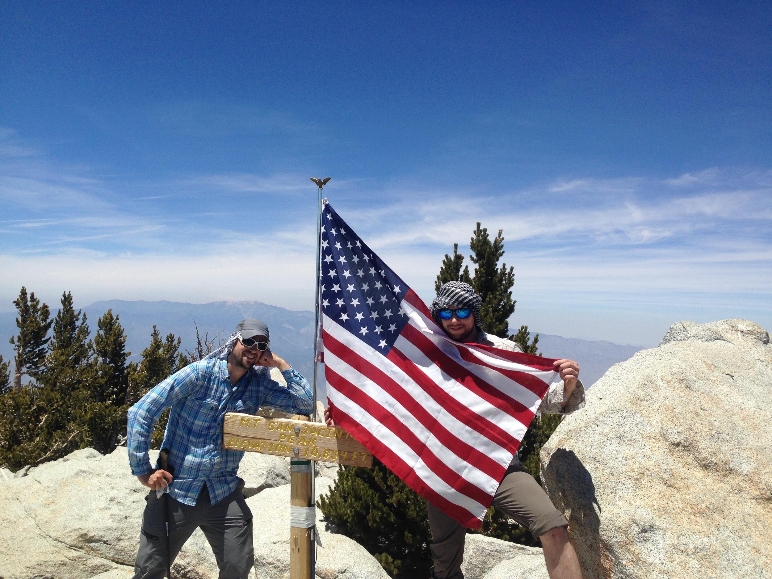 Chris and Ben on the summit of San Jacinto