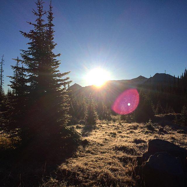 sunrise and snow #lastdayofthepct