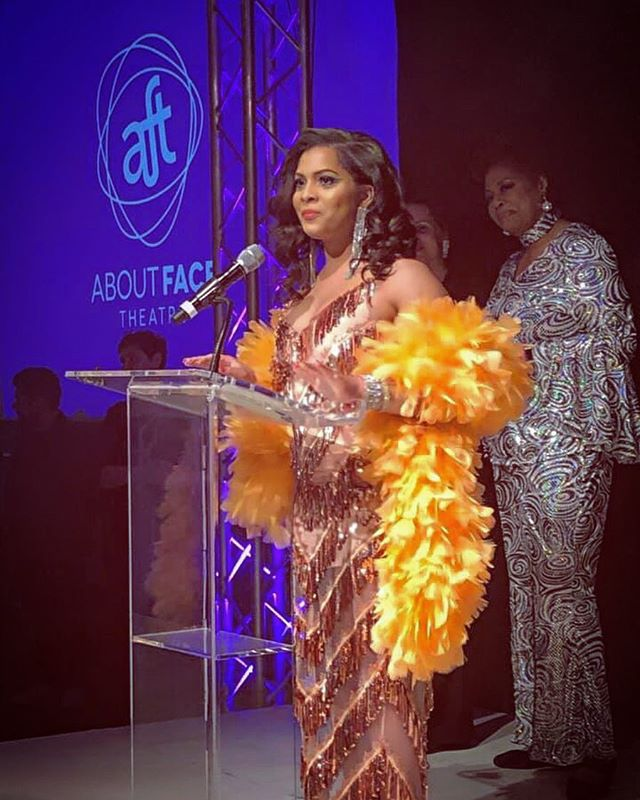 Thank you to @aboutfacechi for honoring me last night at this years Wonka Ball with the 2019 Leppen Leadership Award for my extraordinary contributions to Chicago's LGBTQIA community. I was honored to be presented the award by the legendary @marymorten who decades of public service and advocacy inspires me greatly. About face theatre creates a place for the work of being unapologetically you to flourish. It was a safe space and a stepping stone to greatness in my life and I will forever be grateful for my experience with the youth theatre. Thank you @heyheysk for teaching me when there are no models created for us, we must become them. #theworkcontinues