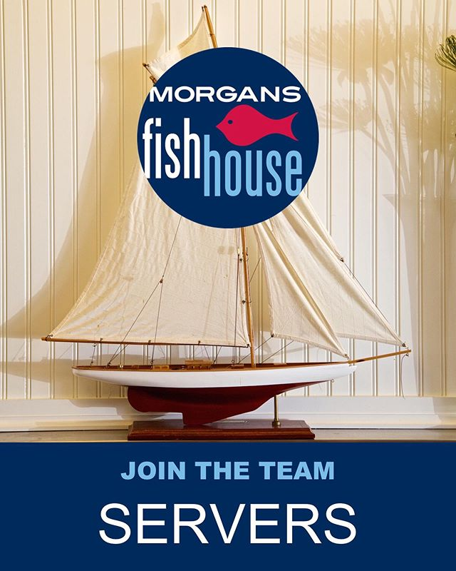 We are looking for a FULL TIME SERVER to join our team here at Morgans! Please email: info@morgansfishhouse.net if interested! Thank you!!! 🐟🙌