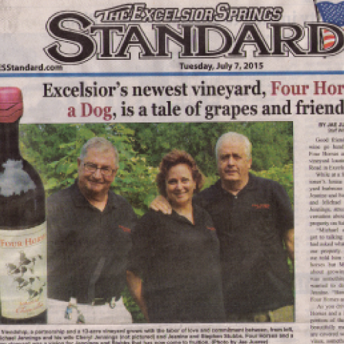 Excelsior's Newest Vineyard is a Tale of Grapes and Friendship |   Excelsior Springs Standard   | June 2015