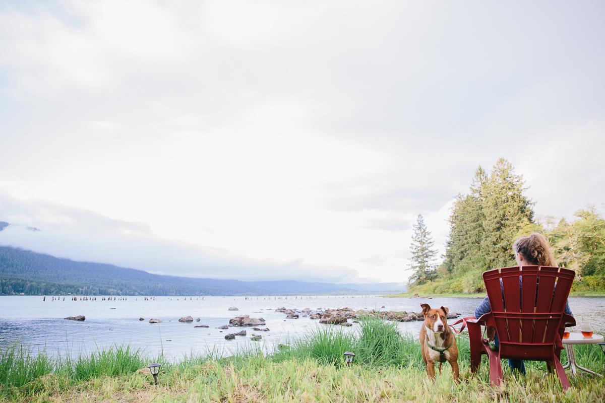 hipcamp: where the river meets the lake. lake quinault, wa