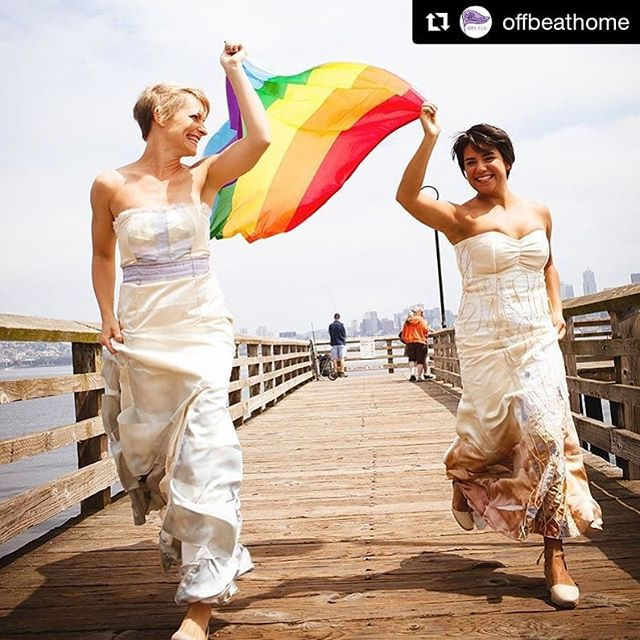 Love Love Love!! #Repost @offbeathome ・・・ Happy #lgbtpride month! Love is love 🌈 📸 @erinnjhale 💃 @waichingstudio ... ... #lgbtq #lgbtqpride #gaypride #pride #pridemonth #loveislove #marriageequality #visibility #pride2018 #pride🌈 #lesbianpride
