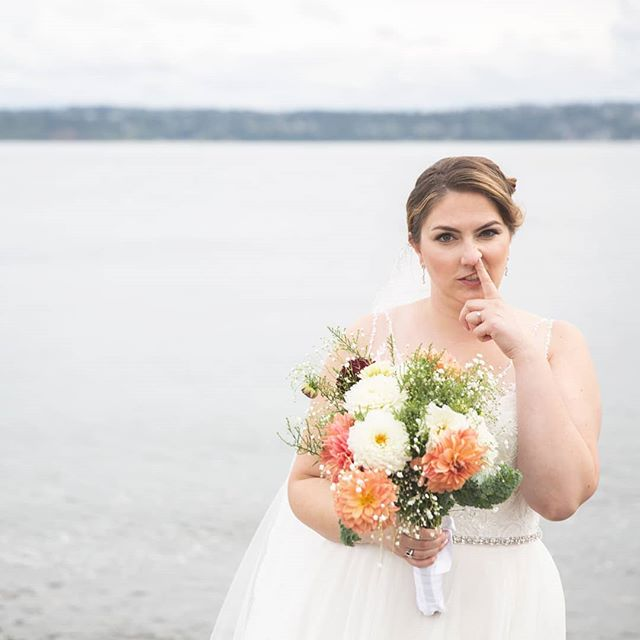 There are so many amazing photographers, I'm so grateful my clients picked me. Kyra was a hilarious bride and so laid back. It's so much easier to take in and remember the elements of the day when you accept that everything is going to be perfect, even when they aren't.  #gratitudetuesday . . . . . #weddingphotography #seattlephotographer #bremertonphotographer #kitsapcounty #outdoorwedding #fallwedding #funnybride #offbeatbride #vashonisland #pnwwedding #donttakeyourselftooseriously #senseofhumor #wittywedding #lodgesonvashon #seattleweddingphotographer #pointrobinson @thelodgesonvashon #newlywemps
