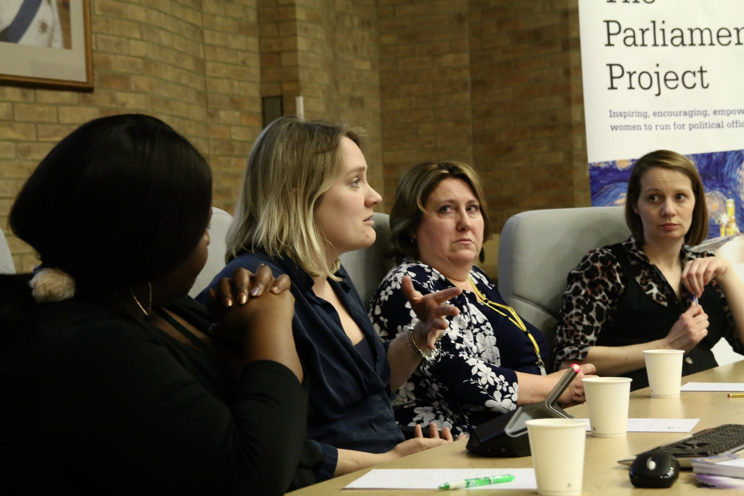 Conservative Councillor Alice Jenkins speaks on a panel at the Parliament Project's recent Milton Keynes event