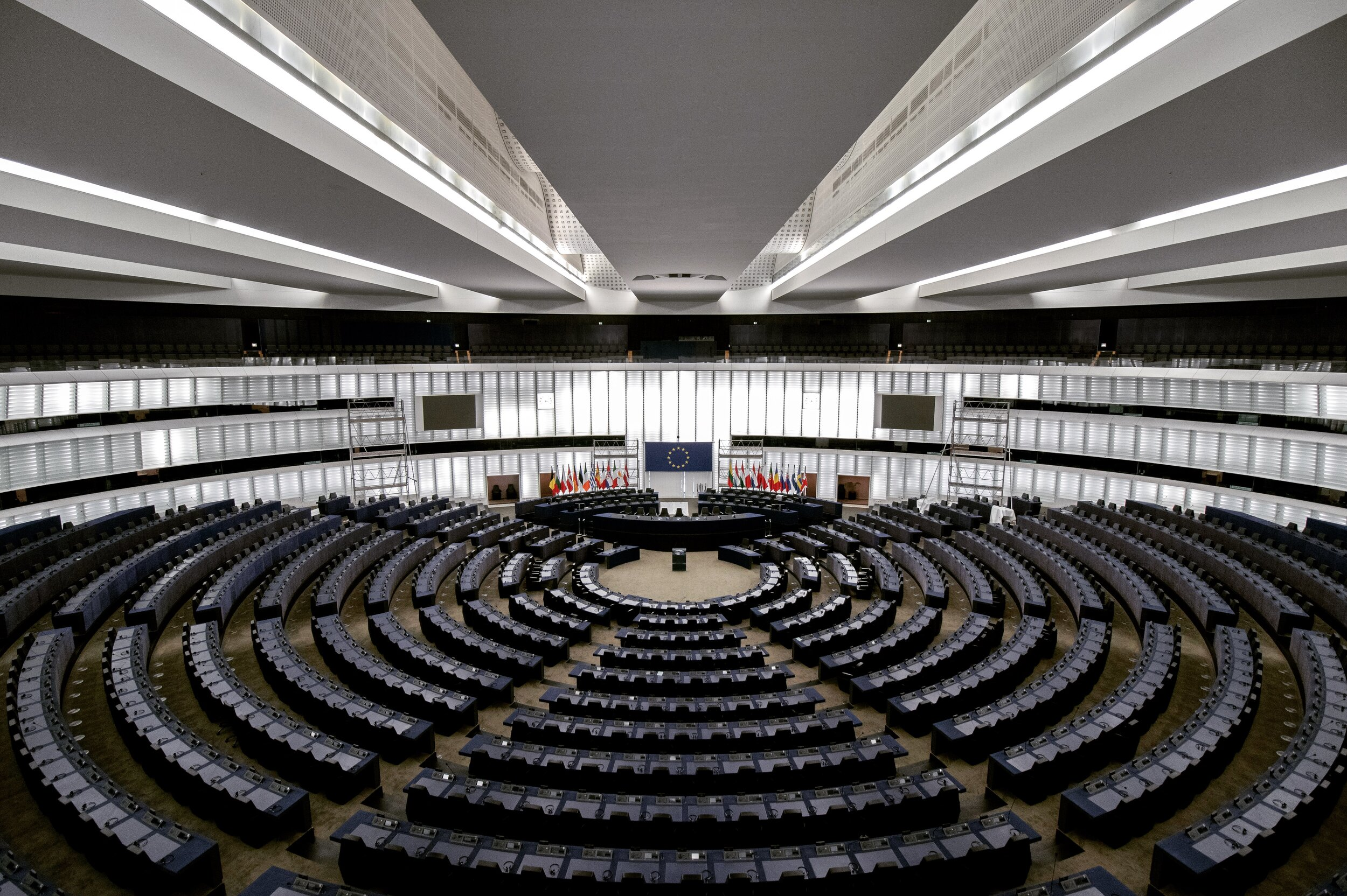 The chamber of the European Parliament