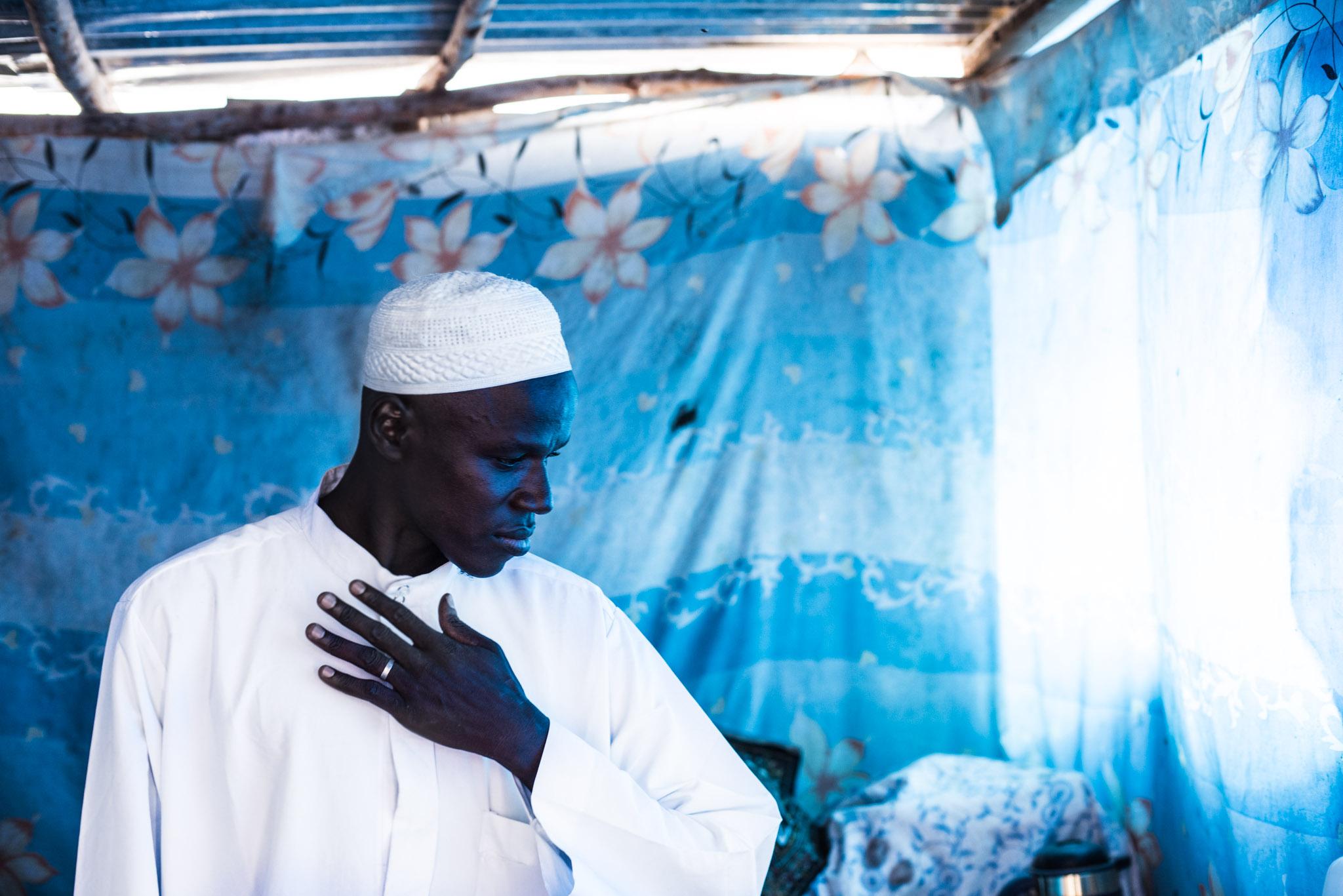 A brief moment inside a man's home in Dakar, Senegal.Love Volunteer project 2015.
