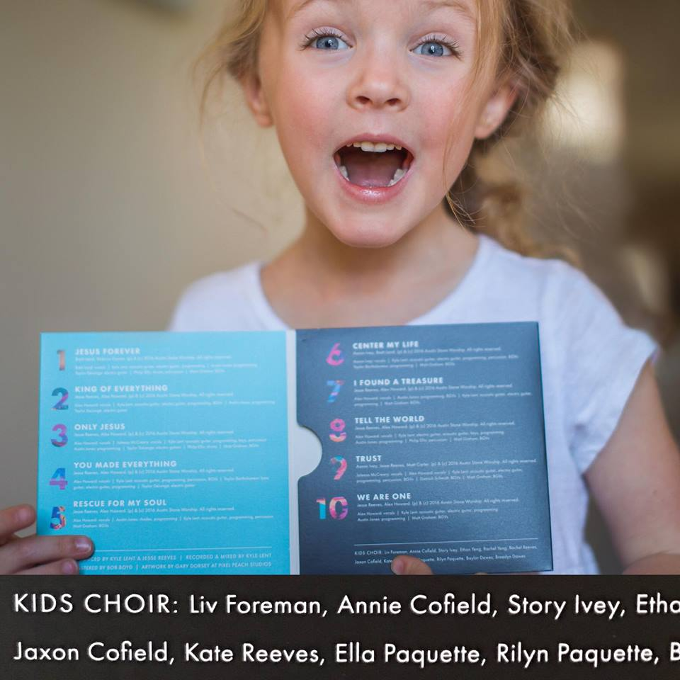 Our daughter Liv got to sing in the Kids Choir for the album recording!