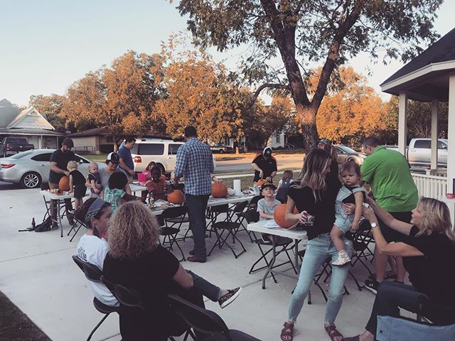 Hosted our 3rd annual pumpkin carving party tonight. @jessforemanphoto and I love our city and being a part of the Taylor fam!