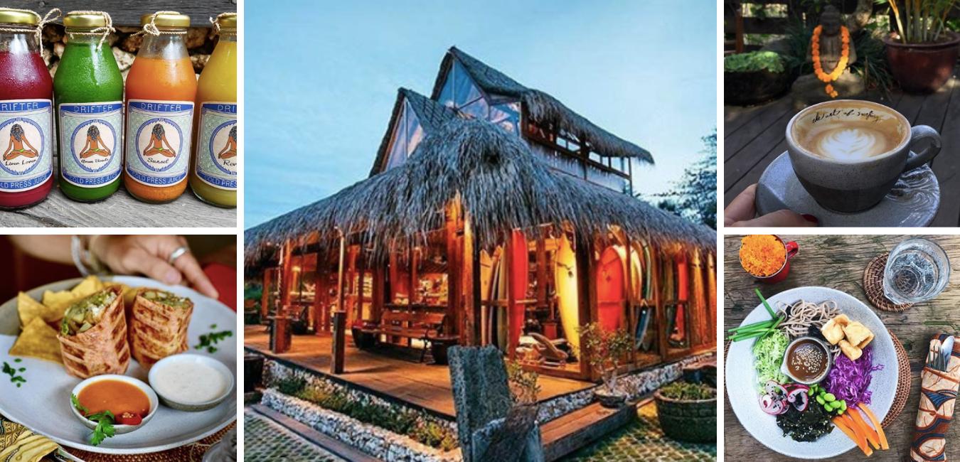 Drifter Surf Shop & Cafe is located on the corner of  Jl. Labuhan Sait & Jl Pantai Bingin.