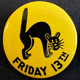 Black Cat friday the 13th pin
