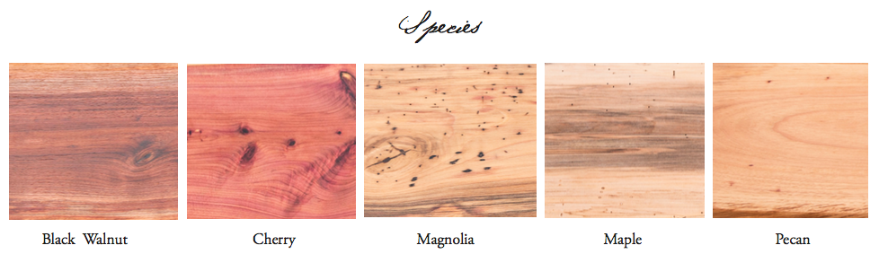 field guide to wood / types of wood / woodkith