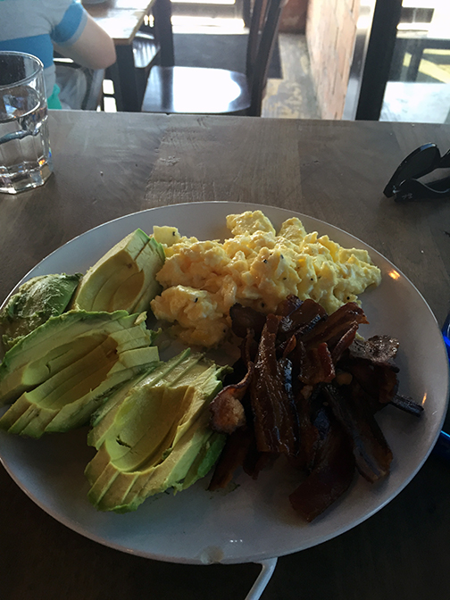 The hubs ordered a customized breakfast at Blacksmith last weekend. He asked for a few avocado slices so clearly they do not skimp.