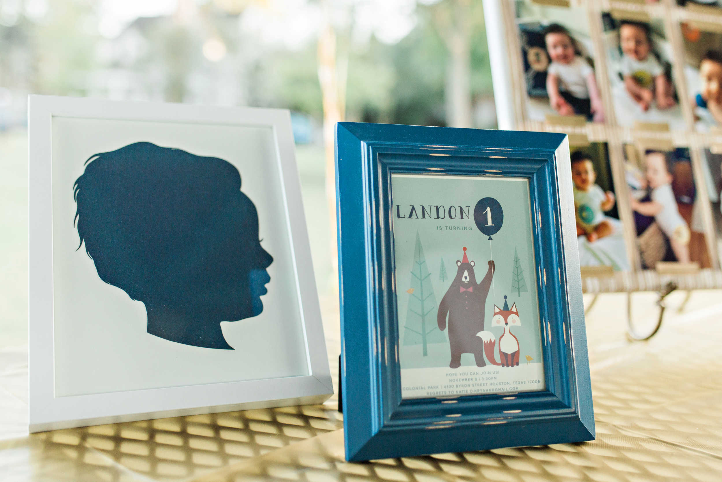 6 month silhouette by  Love & Victory . Party Invitation by  Karidy Walker/Minted . Photo by  R&J Studios .