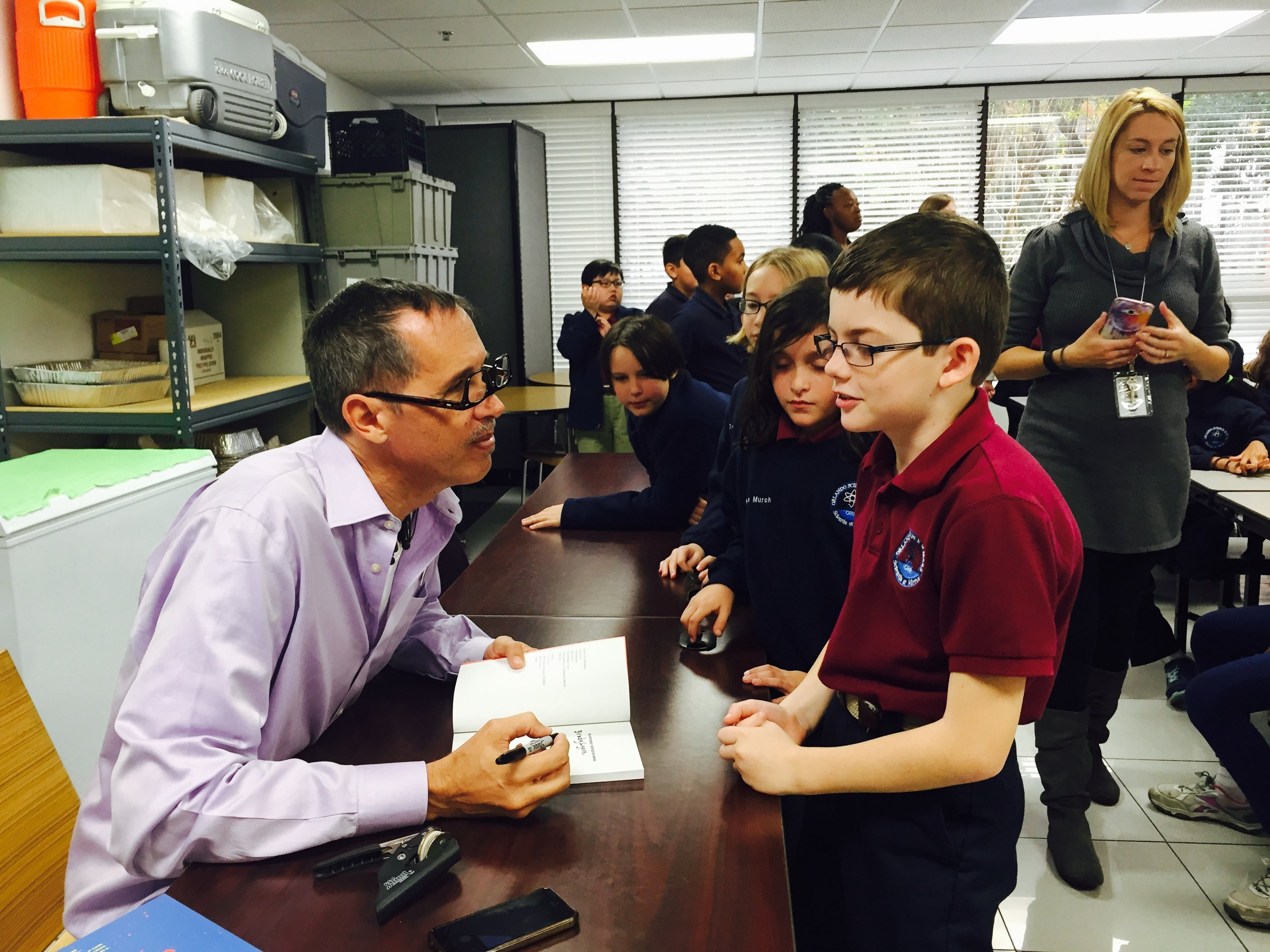 Orlando Science Elementary School Mike Mongo astronaut teacher visiting author