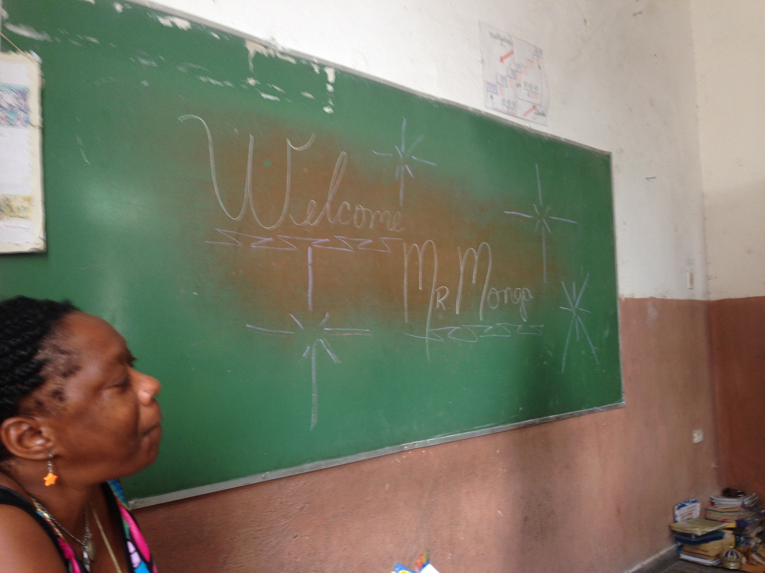 Cuban welcome in La Habana classroom