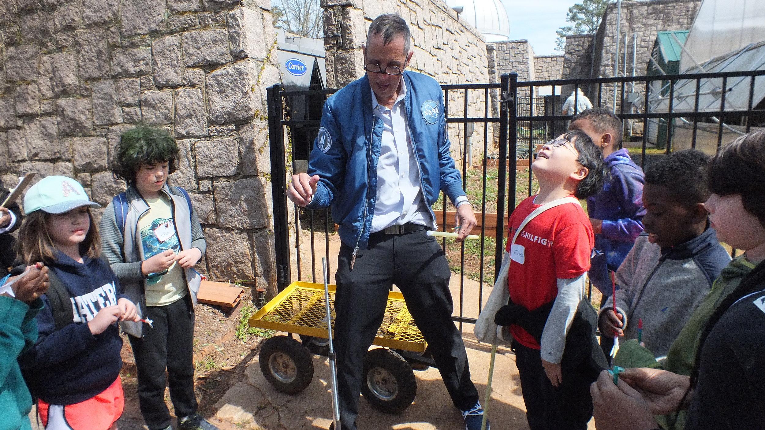 Mike Mongo's Astronaut Job Fair.Atlanta Science Festival 2019.Fernbank Science Center.Pitsco Ed straw rockets.photo Thomas CaleyJPG.JPG
