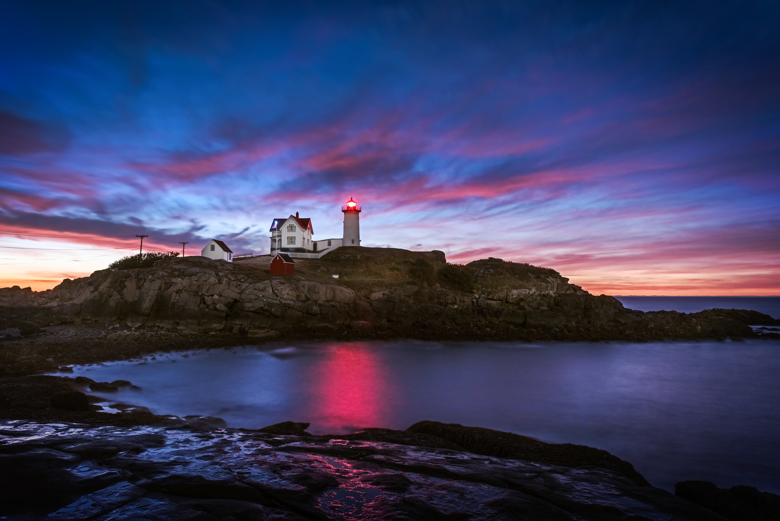 First Light at Nubble