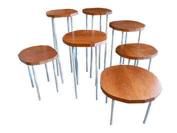 A BIT WOBBLY BUT STILL STANDING assorted tables