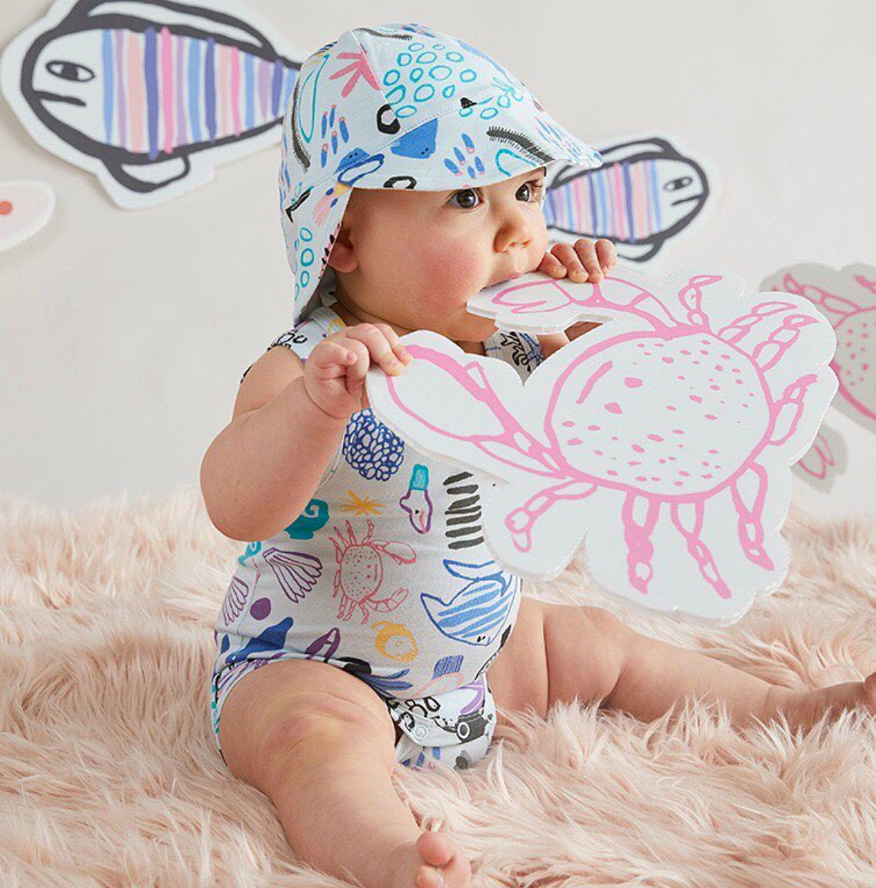 CORAL REEFERS SINGLET SUIT AND HAT