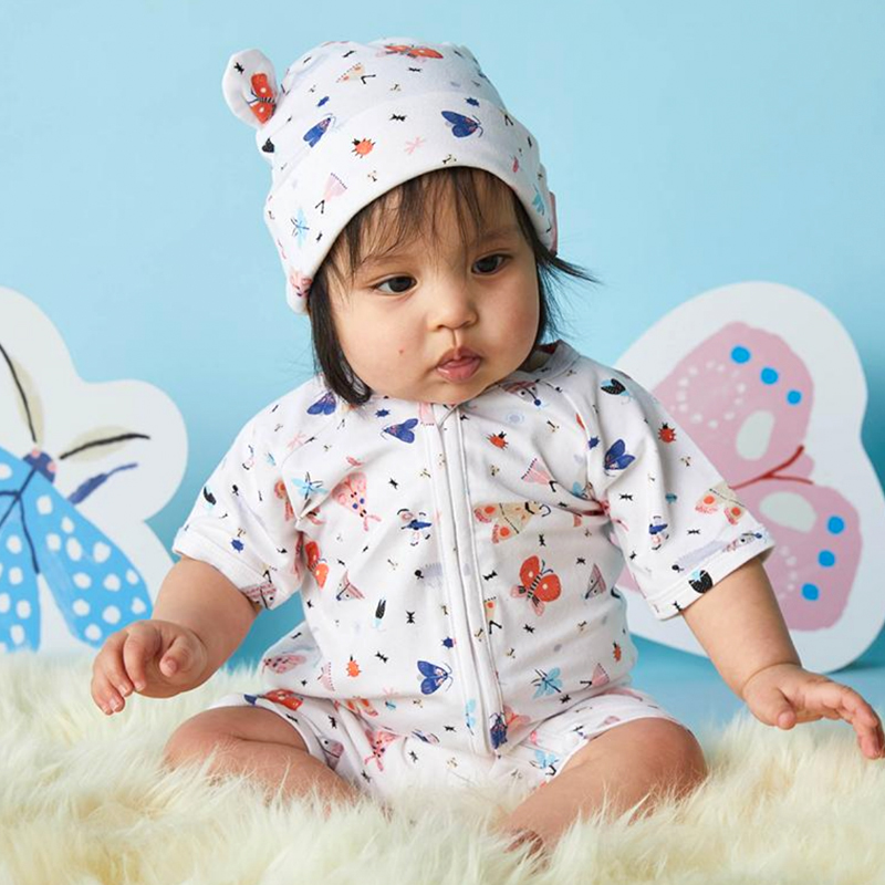 LOVE BUGS SUMMER SLEEP SUIT AND HAT