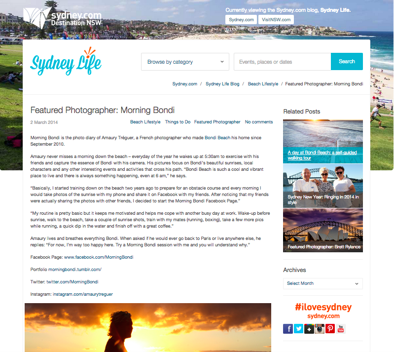 City of Sydney article about Morning Bondi