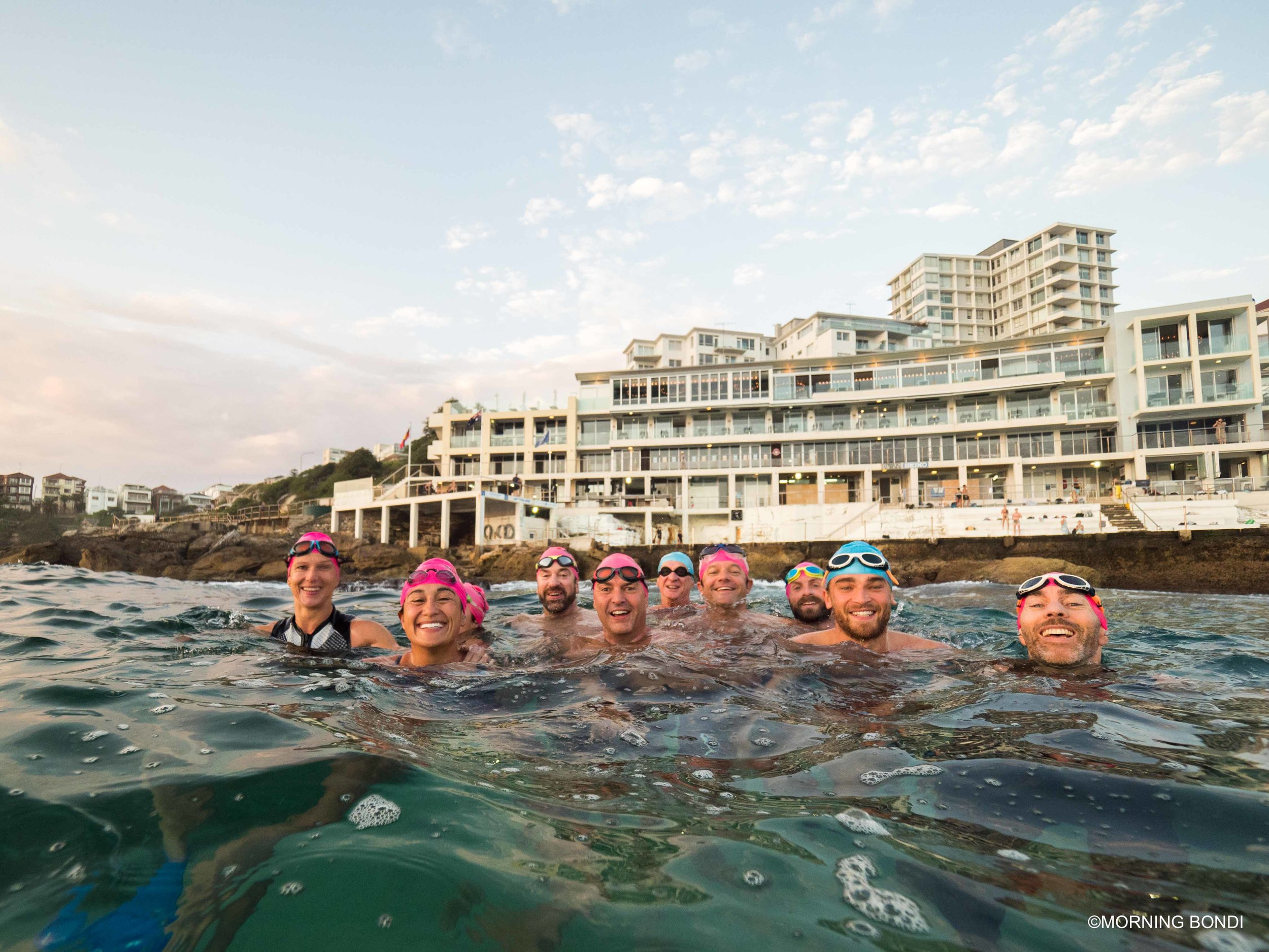 Friendly faces like the ones of the Bronte Surf Club