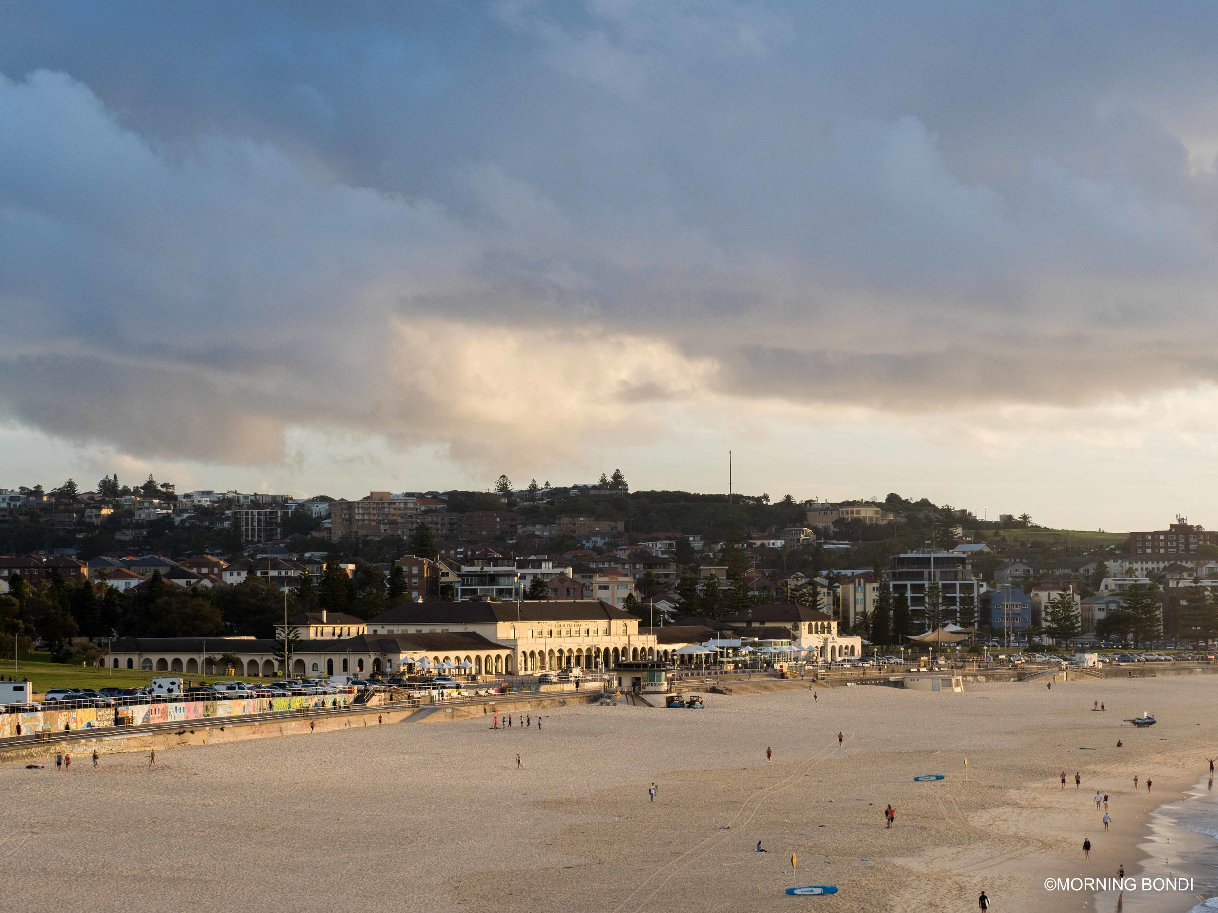 Two Bondi icons: the Bondi Pavilion and the Bondi Lifeguards Tower