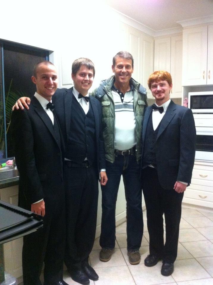 Our immaculately dressed gentlemen meet Rick Ardon!