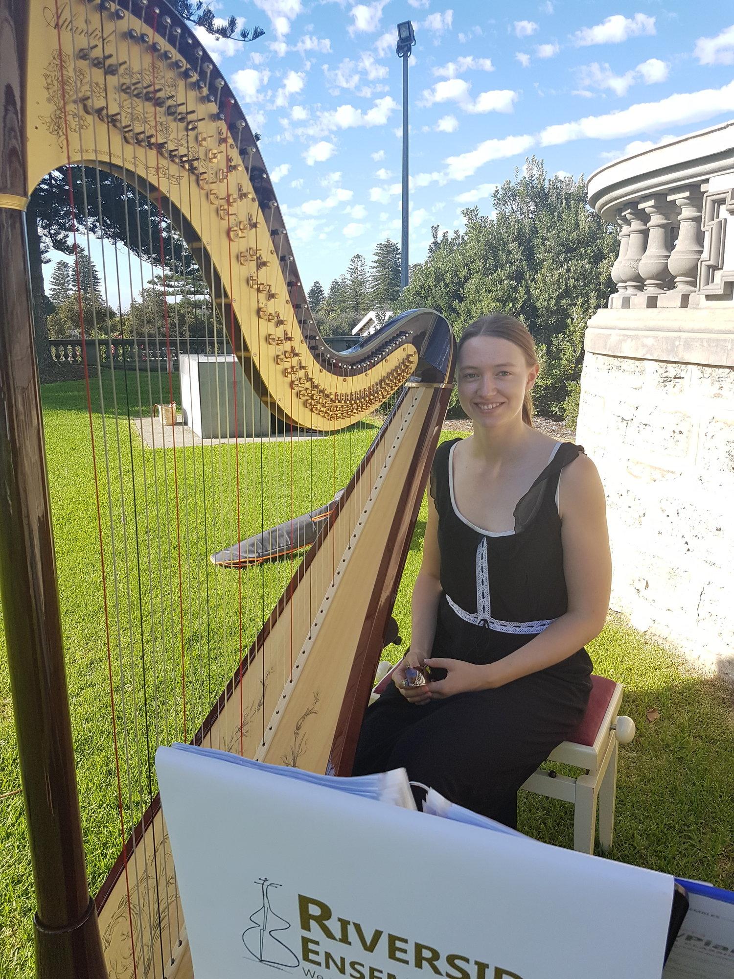 perth-function-string-music-hire-wedding-riverside-harp-harpist